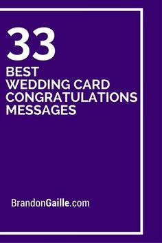 33 Best Wedding Card Congratulations Messages