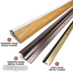 Stop energy-wasting leaks around door jambs by installing a weatherstripping kit and door sweep. Learn how in 13 visualized steps with Family Handyman.