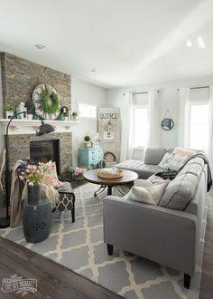 Spring Home Decor Ideas - The DIY Mommy & The Best Kept Online Shopping Secret   Pinterest   Beige walls Room ...