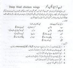 Deep Fried Chicken Wings Recipe in Urdu