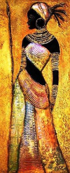 JOANNA MISZTAL (Польша) Black Women Art, Black Art, Multiple Canvas Paintings, African Art Paintings, Africa Art, Tropical Art, Elements Of Art, African Design, Woman Painting