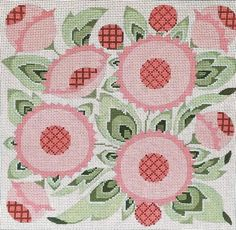 Floral Handpainted Needlepoint Designs