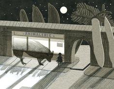 Die Illustrationen von Nancy Liang sind niedlich und geheimnisvoll zugleich. Wie eine gute Geschichte, die man nachts unter der Bettdecke liest. In ihren GIFs kommt diese Atmosphäre durch die bewegten Bilder gleich noch deutlicher rüber. Die meisten Situat