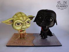 Lightsaber Duel: Yoda vs. Darth Vader made by Avalon Cakes