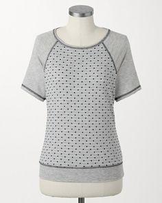 Grey dots sweatshirt #ColdwaterCreek