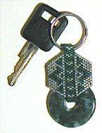 Green Piece stone donut key fob at Sova-Enterprises.com