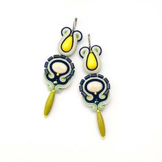 Spring earrings summer jewelry beach accessory long by MANJApl, $50.00