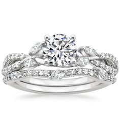 This is my dream ring. Hint Hint Jarred. 18K+White+Gold+Luxe+Willow+Diamond+Ring+(1/3+ct.+tw.)+from+Brilliant+Earth