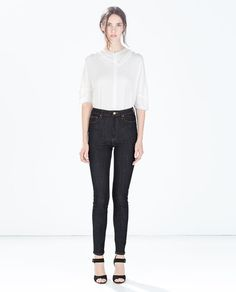 Image 1 of HIGH-WAISTED TROUSERS from Zara