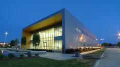 Turner Industries Pasadena, TX RHEINZINK prePatina Blue Gray Zinc Reveal Panels