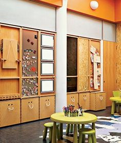 20 Creative Tips for Kids' Rooms                          Storage closets are covered with magnetic boards, mirrors, and light boxes, allowing children more ways to play: tracing pictures,                             displaying art projects, engaging in wordplay, and generally getting creative.