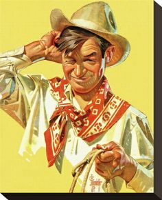 by J.C. Leyendecker..this was the cover of May 1940 Saturday Evening Post ... we have this framed on our wall.