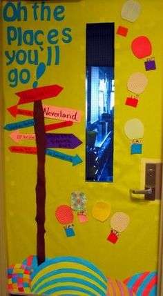 Oh the Places You'll Go! | 29 Awesome Classroom Doors For Back-To-School
