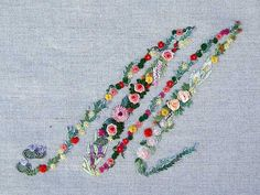Mille fiori alphabet - M – French Needlework Kits, Cross Stitch, Embroidery, Sophie Digard – The French Needle