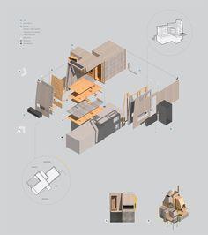 Emma Carter Architecture Student, Architecture Drawings, Concept Architecture, Iso Drawing, Axonometric Drawing, Architect Drawing, Presentation Layout, Portfolio Design, Design Inspiration