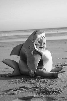⚓ hahaha shark on the beach - (via Just A Dream..)