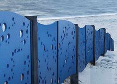 Coloured contemporary fence