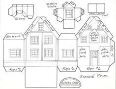 Houses Plans and Patterns - Putz Houses on Pinterest | Putz Houses ...