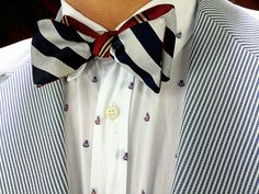 Kitsuné shirt and jacket - Social Primer for Brooks Brothers bow tie