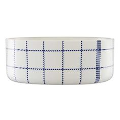 Buy Mormor Blue Bowl from Normann Copenhagen. Mormor is a humorous and functional series for the modern kitchen and dining table which has clear referen. Blue Bowl, Traditional Kitchen, Kitchen Items, Tea Towels, Dining Table, Plates, Larger, Dinner, Patterns
