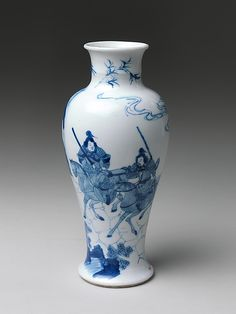 Vase with Warrior Qing dynasty (1644–1911), Kangxi period (1662–1722) late 17th century China