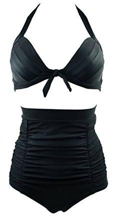 Cocoship Retro Elegant Black High Waisted Bikini Swimsuits Swimwear XL(FBA) COCOSHIP http://www.amazon.com/dp/B00KX00D5Y/ref=cm_sw_r_pi_dp_Tsddvb1SSP862