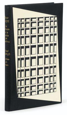 Camus, Albert -- Oscar Wilde L'ARTISTE EN PRISON [PRÉCÉDANT] LA BALADE DE LA GEÔLE READING. PARIS, EDITIONS FALAIZE, 1952.  BINDING:  P.-L. MARTIN