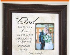 Wedding Day Gifts for Father Dad from Bride and Groom Thank You Gift For Parents, Wedding Gifts For Parents, Wedding Thank You Gifts, Bride Gifts, Gifts For Dad, Mother Of The Groom Gifts, Mother In Law Gifts, Father Of The Bride, Wedding Picture Frames