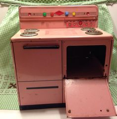 Vintage Pink Wolverine Tin Stove by sweetserendipityvint on Etsy, $23.00