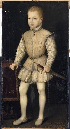 Henri IV, then Prince of Navarre,  aged 4, during his stay in Paris with his parents in 1557. ... Francois Bunel II