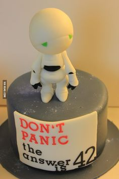 hitch hikers guide to the galaxy Deep Thought 42 Answer to the Ultimate Question of Life, the Universe, and Everything Douglas Adams  cake pastel fondant torta tarta