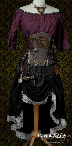 """The spirit Catcher -Glowing Steampunk Corset Belt Any size 24"""" to 38"""" waist  fast Shipping"""