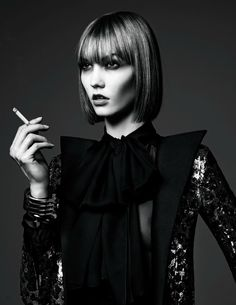 """VOGUE JAPAN - """"A NEW TRADITION"""" Karlie Kloss by Hedi Slimane for Vogue Japan June 2013 Styling: George Cortina Hair by Orlando Pita Make-up by Tom Pecheux"""