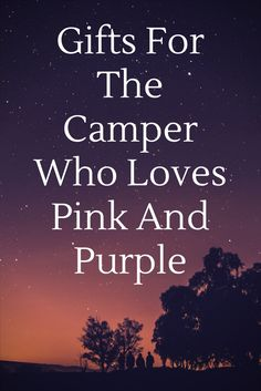 Looking for the perfect gift for nature-loving camper or RVer who loves pink or purple? Look no further! Great Christmas Gifts, Great Gifts, Backpacking, Camping, Gifts For Campers, Purple, Pink, Hiking, Nature