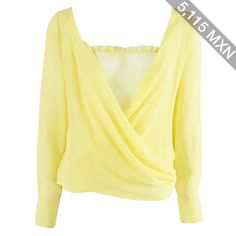 Preowned Versace Yellow Silk Blouse With Lace Tank Top - 40 - 1990's