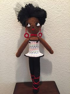 Crochet 21 African American Doll Afro by BloomingBeeCreations