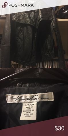 LETHER JACKET SZ S great condition Kenneth Cole Jackets & Coats