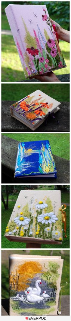 cover a binder and fill with calendar pages or scrap book pages or photo holder sheets or recipes or ....