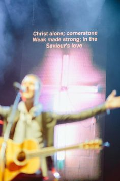 Christ alone; cornerstone ; weak made strong in the Saviour's love.