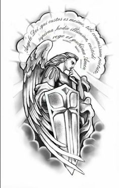 Meu anjo da guarda. Forearm Tattoo Design, Tattoo Design Drawings, Tattoo Sketches, Badass Tattoos, Body Art Tattoos, Tattoos For Guys, Tatoos, Christ Tattoo, Jesus Tattoo