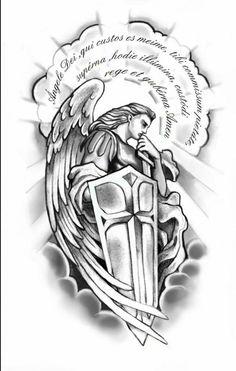 Meu anjo da guarda. Forearm Tattoo Design, Tattoo Design Drawings, Tattoo Sketches, Badass Tattoos, Body Art Tattoos, Tattoos For Guys, Tatoos, Christ Tattoo, Jesus Tattoo
