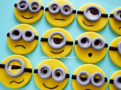12 Fondant Minion Cupcake Toppers by EdibleDesignsByLetty on Etsy