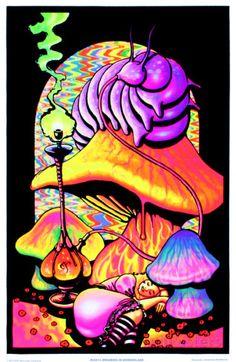Alice in Wonderland Dreaming Flocked Blacklight Poster Art Print Prints at AllPosters.com