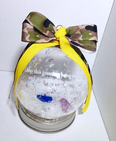 Glass Military Apart For Christmas by CraftinistasBoutique on Etsy