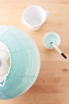 Ombre paper lantern idea