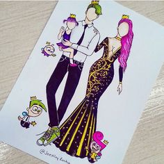 The Fairly OddParents 👑💕 just more coverage though App Drawings, Drawing Sketches, Cute Disney Drawings, Cute Drawings, Fashion Design Drawings, Fashion Sketches, Social Media Art, Amazing Drawings, Drawing Clothes