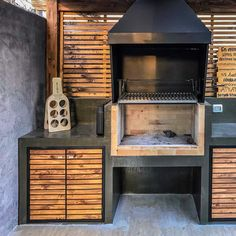 An outdoor kitchen can be an addition to your home and backyard that can completely change your style of living and entertaining. Earlier, barbecues temporarily set up, formed the extent of culinary attempts, but now cooking outdoors has become an. Outdoor Kitchen Grill, Outdoor Barbeque, Outdoor Oven, Backyard Kitchen, Summer Kitchen, Outdoor Kitchen Design, Outdoor Cooking, Backyard Patio, Parrilla Exterior