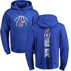 48ba68c4a53 Kansas Jayhawks Basketball Personalized Backer Pullover Hoodie - Royal
