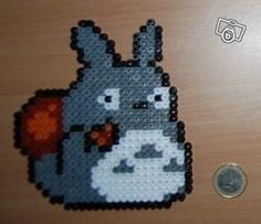 Totoro hama beads by mango
