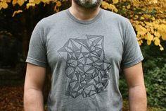 Geometrification T-Shirt - Famjam Looks Great, Mens Tops, T Shirt, Fashion, Tee, Moda, La Mode, Fasion, Fashion Models